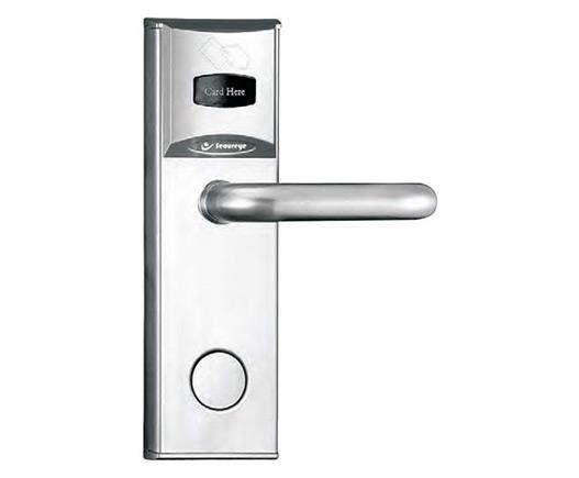 Secureye Hotel Lock With Key card and Mechanical key(silver)